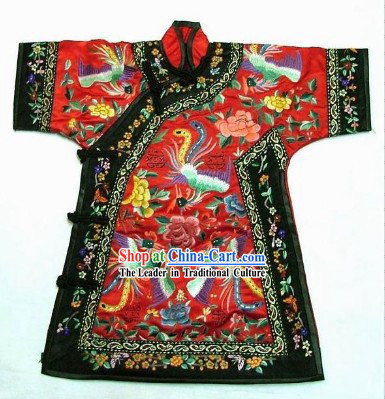 100_ Hand Made Embroidery Phoenix Chinese Palce Empress Robe