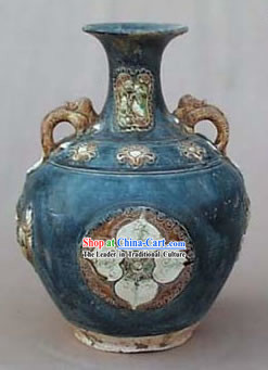 Chinese Classic Archaized Tang San Cai Statue-Song Dynasty Amphora Jar