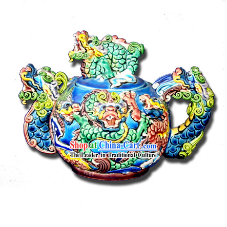 Chinese Cochin Ceramics-Nine Dragons Palace Kettle