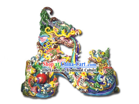 Chinese Cochin Ceramics-Dragon Parents Teaching Dragon Child