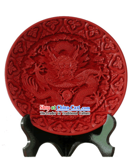 Chinese Palace Lacquer Works-Dragon Plate