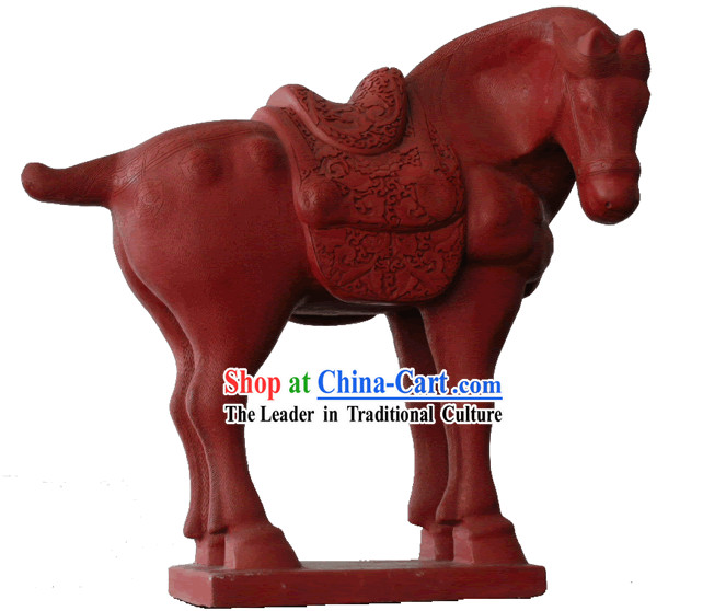 Chinese Hand Carved Palace Lacquer Craft-Tang Period Horse_out of stock_