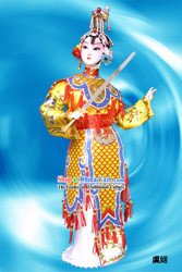 Handmade Peking Silk Figurine Doll - Farewell My Concubine