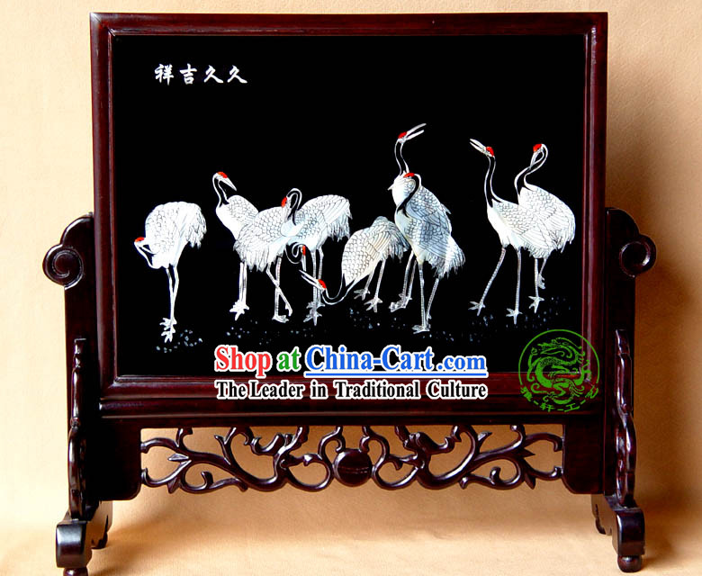 Yang Zhou Lacquer Craft-Holy Cranes