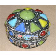 Tibet Stunning Colourful Gems Jewelry Box