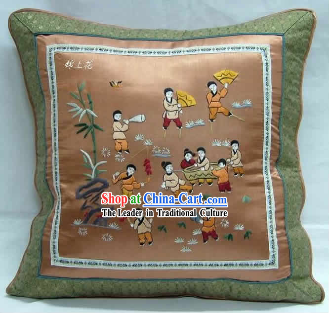 Chinese Handmade Embroidery Children Cushion