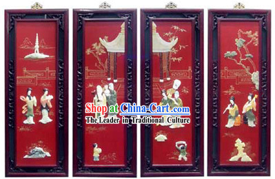 Lacquer Ware Folding Screen-Ancient Happiness