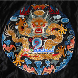 Chinese Hand Embroidery Fire Dragon Flake