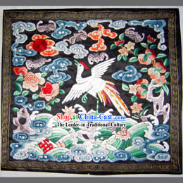 Qing Dynasty Second Grade Civilian Hand Embroidery Flake