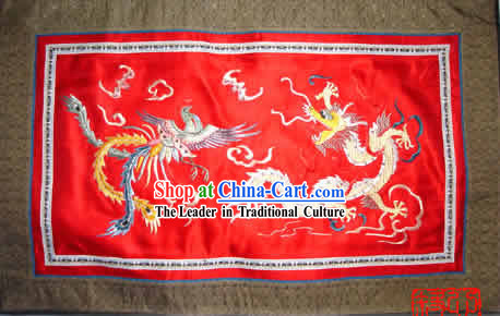 Chinese Hand Made Embroidery Flake-Dragon and Phoenix