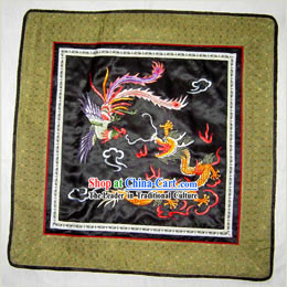 Chinese Classic Hand Made Embroidery Flake-Dragon and Phoenix