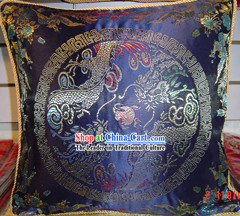Chinese Classic Palace Dragon Silk Cushion