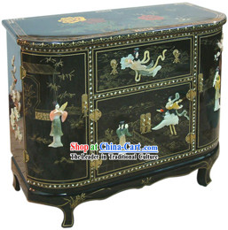 Chinese Palace Lacquer Ware Cabinet-Fei Tian