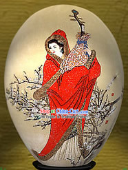 Chinese Wonders Hand Painted Colorful Egg-Zhao Jun_one of four ancient beauties_