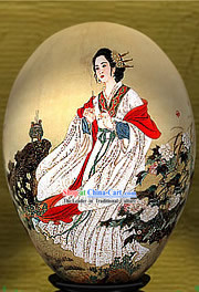 Chinese Wonders Hand Painted Colorful Egg-Diao Chan_one of four ancient beauties_