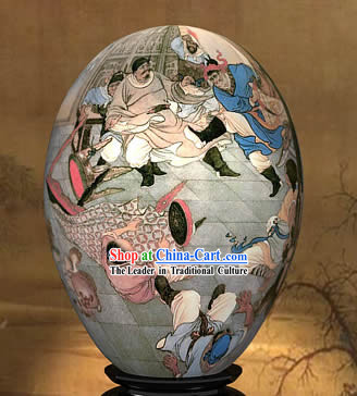 Chinese Wonders Hand Painted Colorful Egg-Gui Guan of West Journey