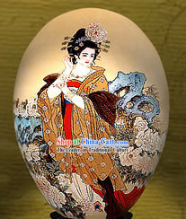 Chinese Wonders Hand Painted Colorful Egg-Gui Fei Empress _one of four ancient beauties_