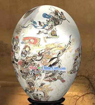 Chinese Wonders Hand Painted Colorful Egg-Mighty Monkey King of West Journey