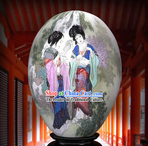 Chinese Wonders Hand Painted Colorful Egg-Ancient Palace Princess