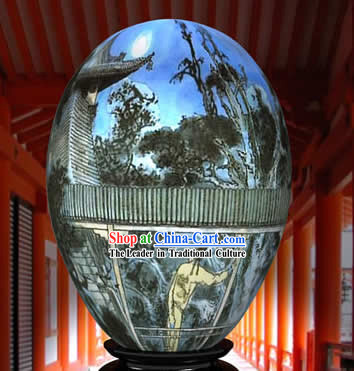 Chinese Wonder Hand Painted Colorful Egg-Missing Home Painting