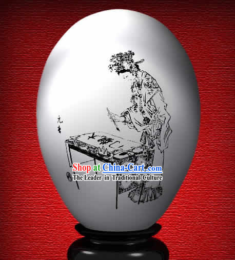 Chinese Wonder Hand Painted Colorful Egg-Spring Beauty of The Dream of Red Chamber