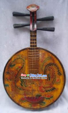 Old Dragon and Phoenix Musical Instrument Lute