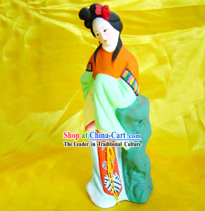 Beijing Hand Made Clay Figurine-Lin Daiyu