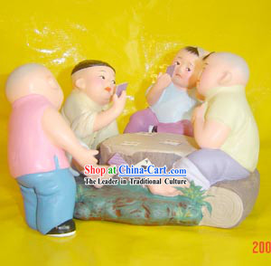 Beijing Hand Made Clay Figurine-Playing Cards