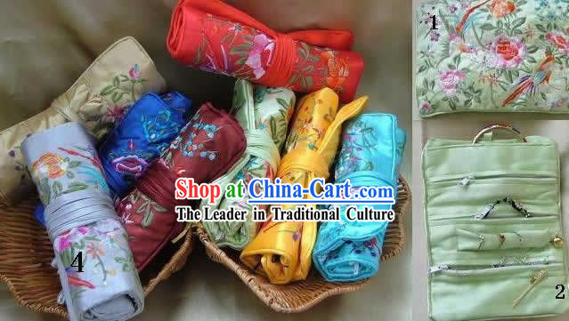 Chinese Classic Handmade Long Silk Jewelry Pouches