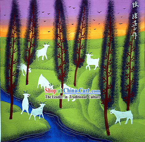 Shan Xi Folk Farmer Painting-Herd