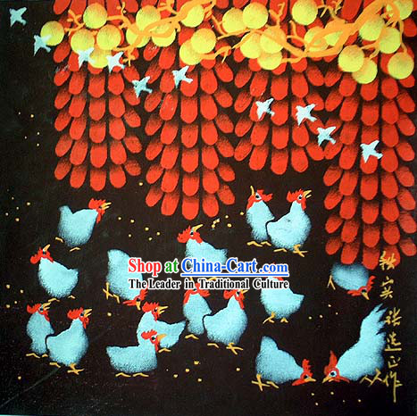 Shan Xi Folk Farmer Painting-Autumn Harvest