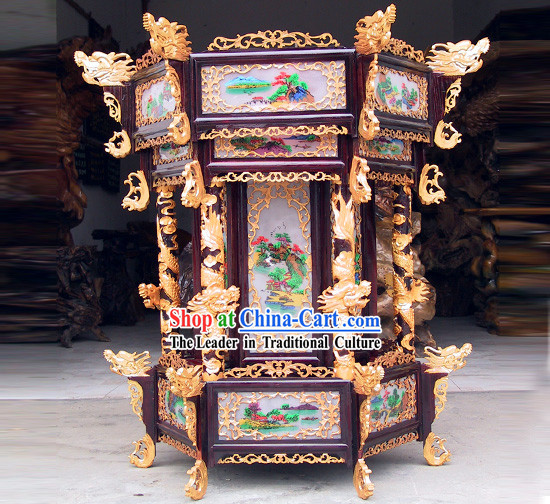 Large Chinese Classical Hand Made Octagonal Dragons Palace Lantern