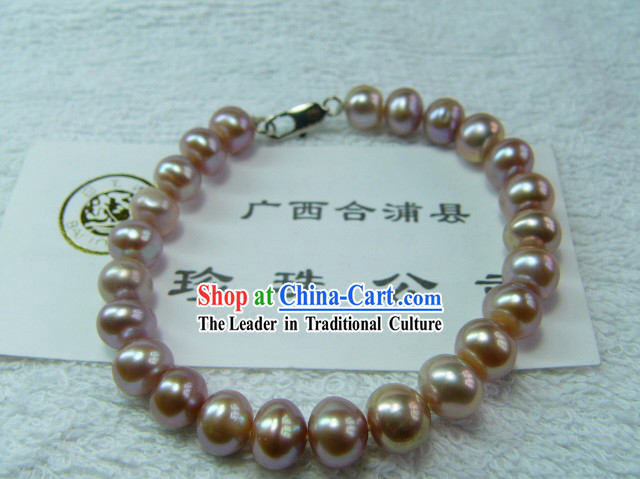 Nature Purple Pearl Bracelet