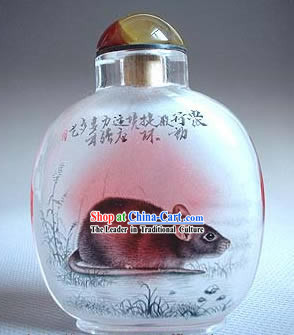 Snuff Bottles With Inside Painting Chinese Zodiac Series-Rat