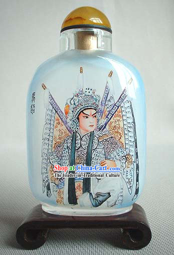 Snuff Bottles With Inside Painting Peking Opera Series-Ancient Handsome Man