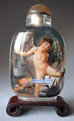 Snuff Bottles With Inside Painting Religion Series-Love Angel