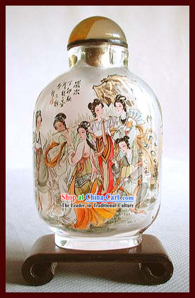 Snuff Bottles With Inside Painting Characters Series-Chinese Palace Girls