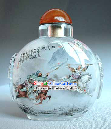 Snuff Bottles With Inside Painting Characters Series-Fighting Generals 1