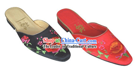 Chinese Classic Handmade Embroidery Baboosh-Flower
