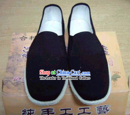 Chinese Hand Made Folk Black Shoes