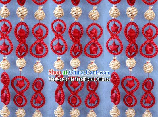 Chinese Hand Made Folk Wheat Stalk Curtain 5