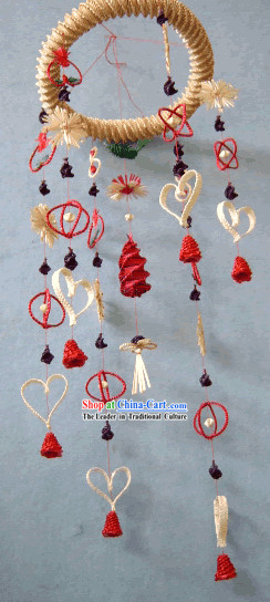 China Hand Made Wheat Stalk Windbell for Lovers