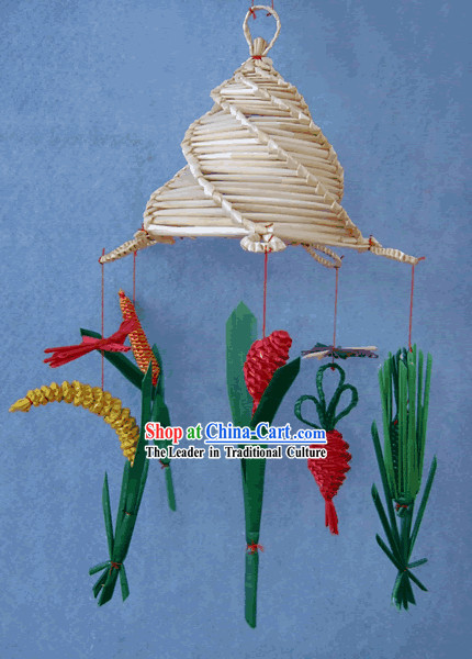 China Hand Made Wheat Stalk Windbell-Harvest