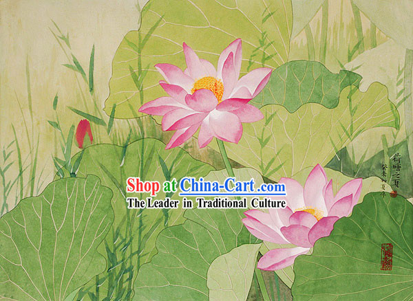 Chinese Traditional Painting-Lotus of Summer