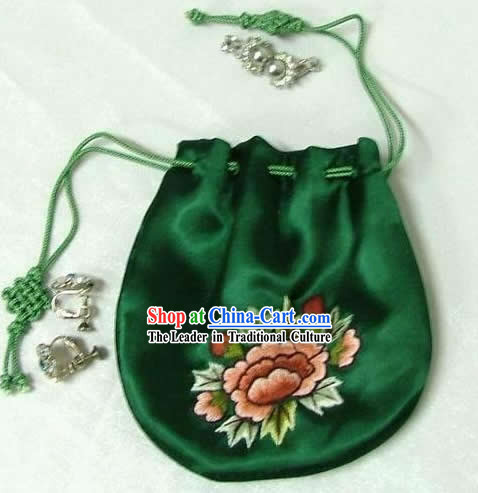 Chinese Classic Silk Jewely Pouch