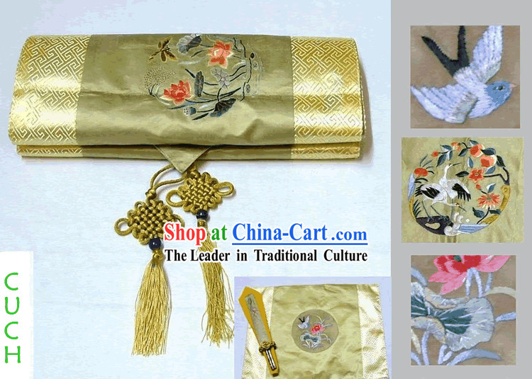 Chinese Classic Handmade Embroidery Table Runner
