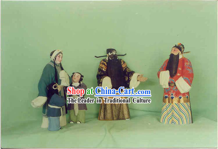 Hand Painted Sculpture Arts of Clay Figurine Zhang-Qin Xianglian