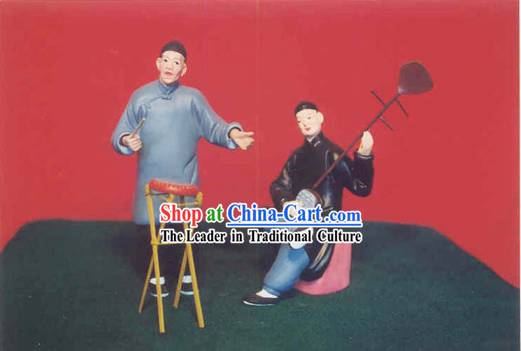 Chinese Hand Painted Sculpture Art of Clay Figurine Zhang-China Folk Art Shuo Shu