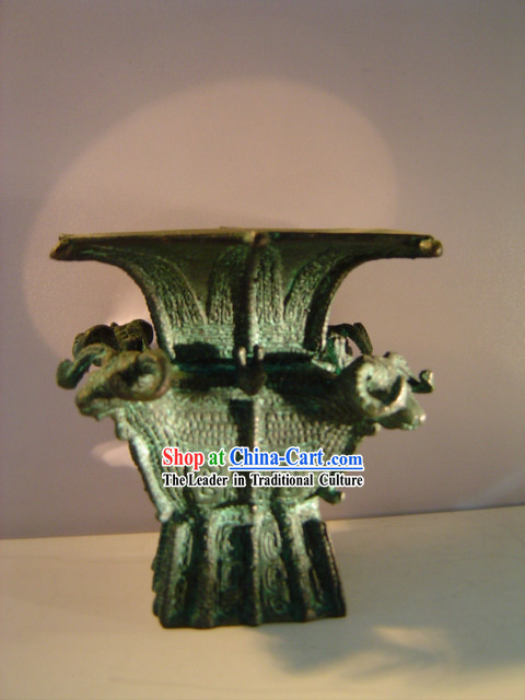Chinese Classic Archaize Bronze Ware-Four Sheep Fang Zun