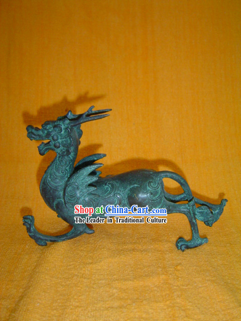 Chinese Classic Archaize Bronze Ware-Lucky Kylin